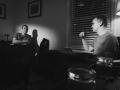 Jeff Balmert and John Rokosz, scriptwriting in White Ball Productions studio