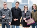 White Ball Productions crew, shooting Monday in downtown Pittsburgh